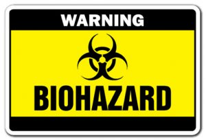 Black and yellow biohazard sign.