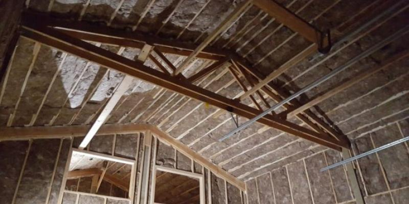 A clean and sanitized attic with new insulation